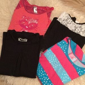 Other - Set of 4 girls long sleeve tops
